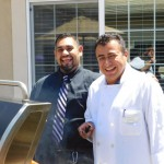 Jose Ramirez and Chef Abel were the  grill masters of the day.