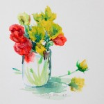 Shirley Veis, Floral flowers in vase