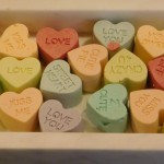 Karvin also made these beautiful mini-white chocolate covered almond cookie candy heart grams.