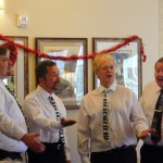 Barbershop Quartet singing love songs.