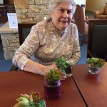 Shirley Veis and her terrarium.