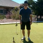 Bill Cole enjoying the weather and the golf.