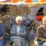 Pat Dumont, Betty Day and Linda Cook having a fun time.