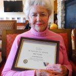Nancy Fisher received Certificate of Appreciation for husband Bill Fisher.