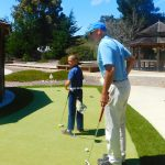 Hayden Thompson with Ben Kline, Executive Director of the Shivas Irons Society, a golf related non-profit organization.